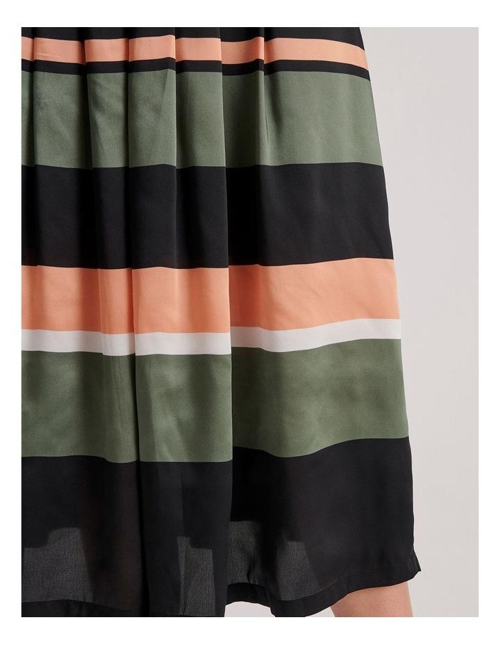 Tuck Detail Midi Skirt image 5