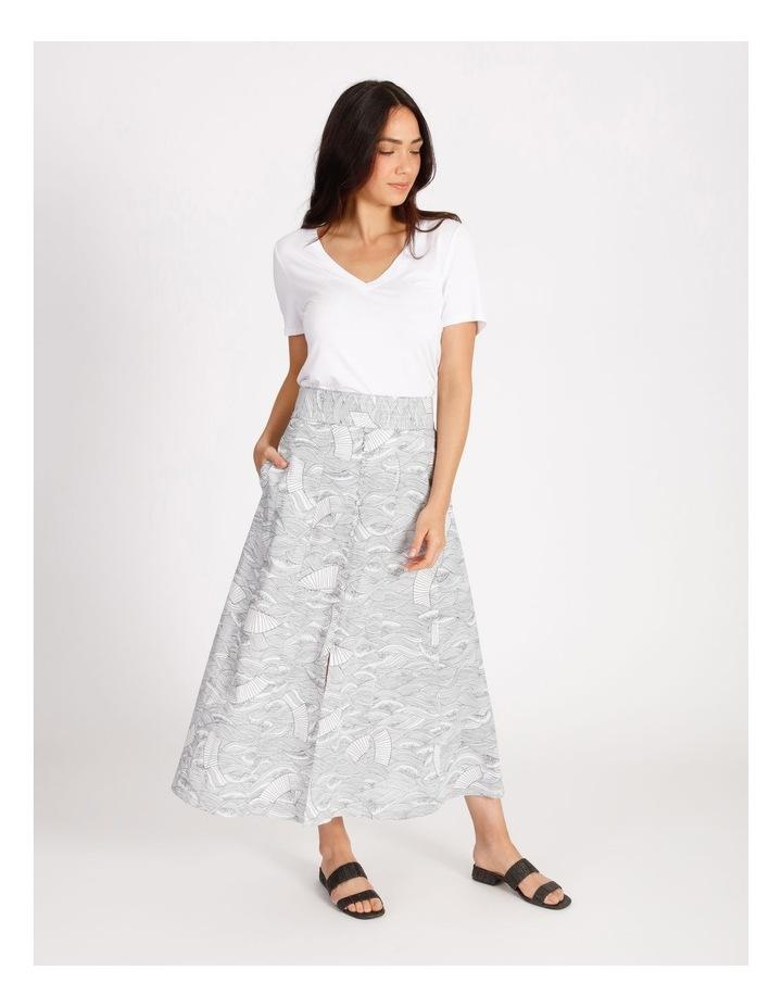 Button Front Linen Skirt image 2