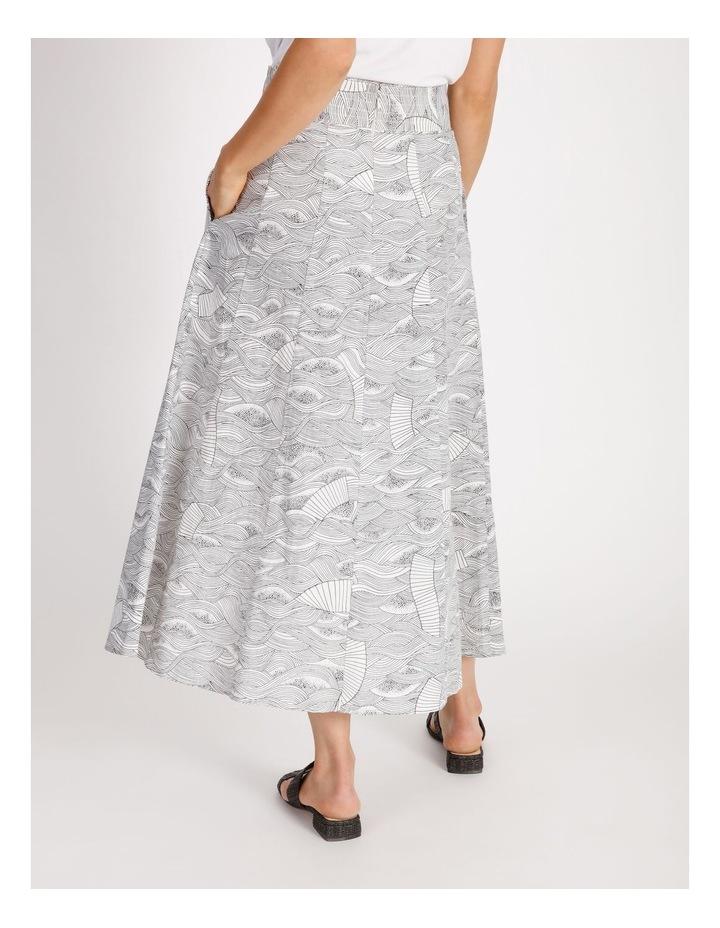 Button Front Linen Skirt image 3