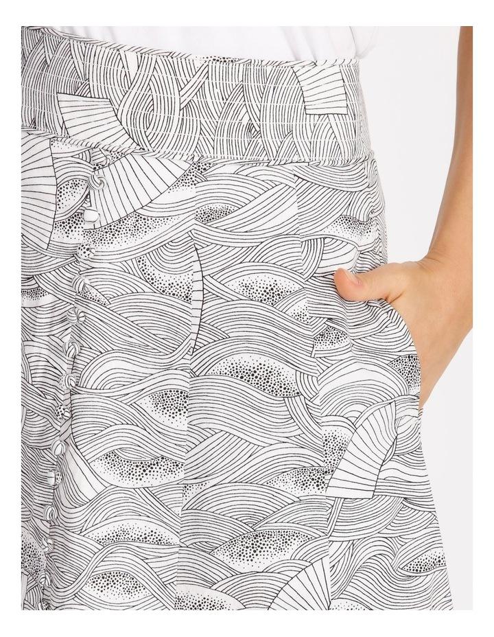 Button Front Linen Skirt image 4