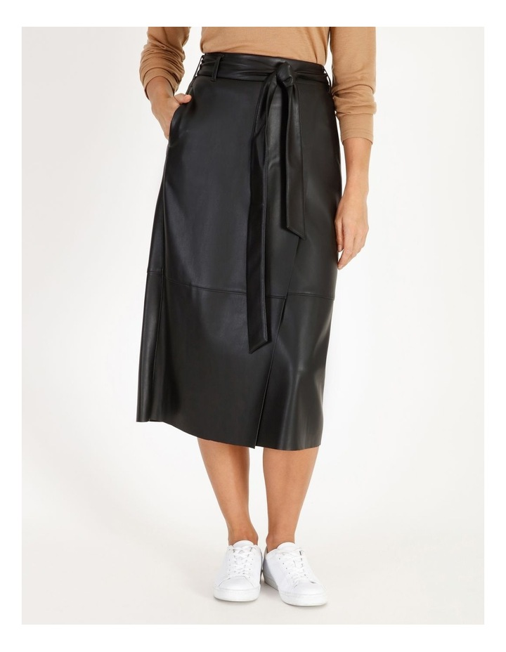 Faux Leather Wrap Skirt image 1