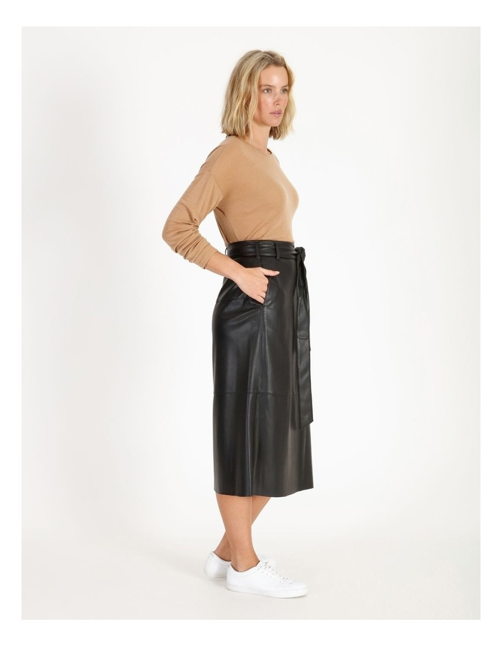 Faux Leather Wrap Skirt image 2