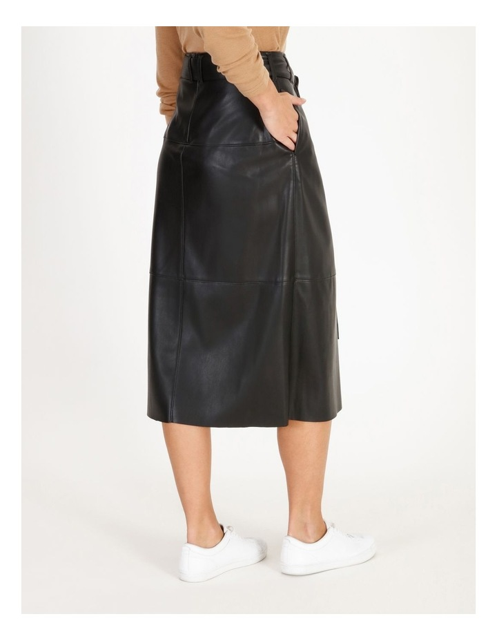 Faux Leather Wrap Skirt image 3