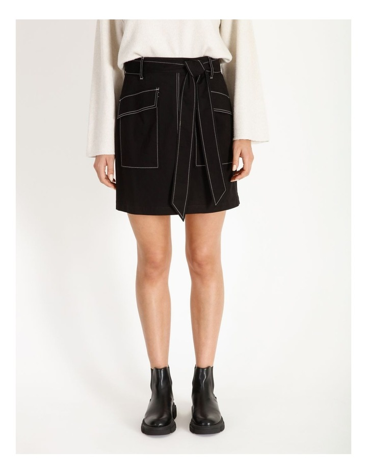 Contrast Stitch Mini Skirt image 1