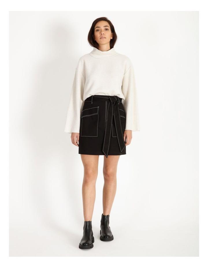 Contrast Stitch Mini Skirt image 2