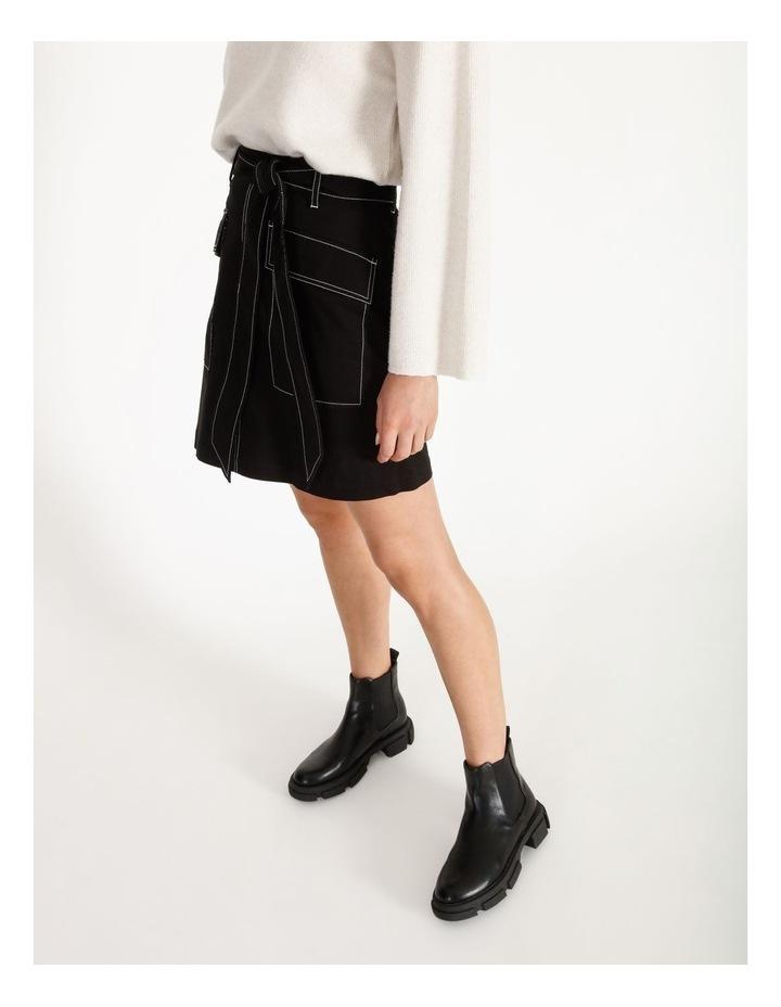 Contrast Stitch Mini Skirt image 3