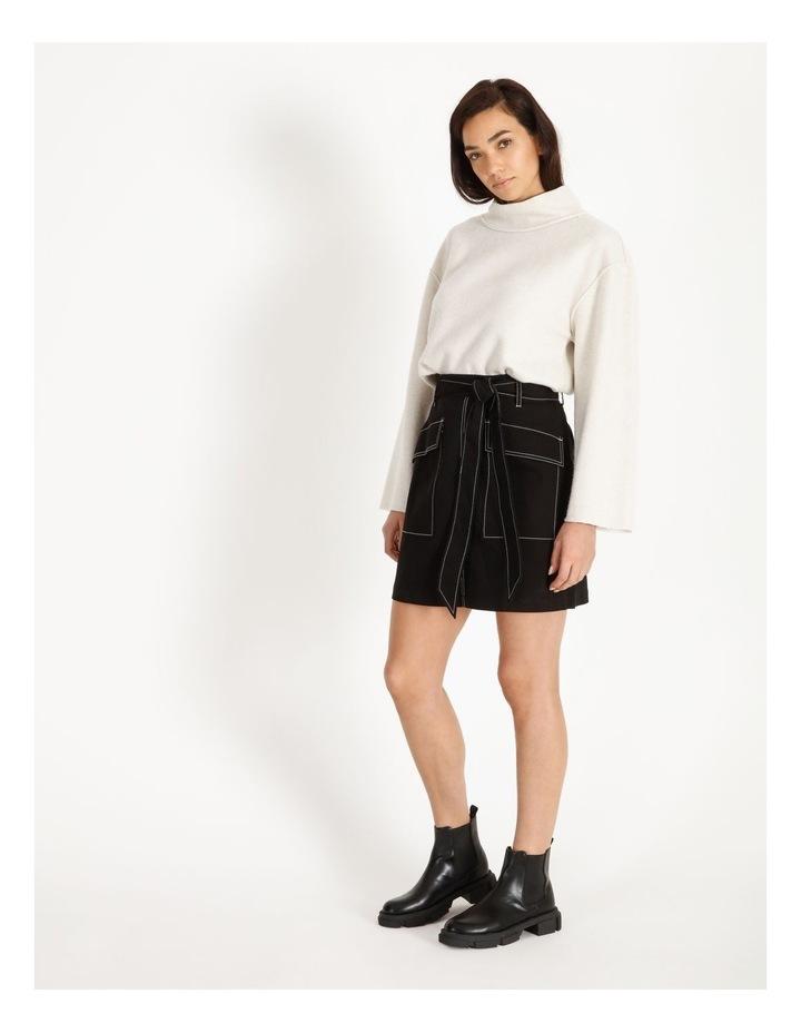 Contrast Stitch Mini Skirt image 4
