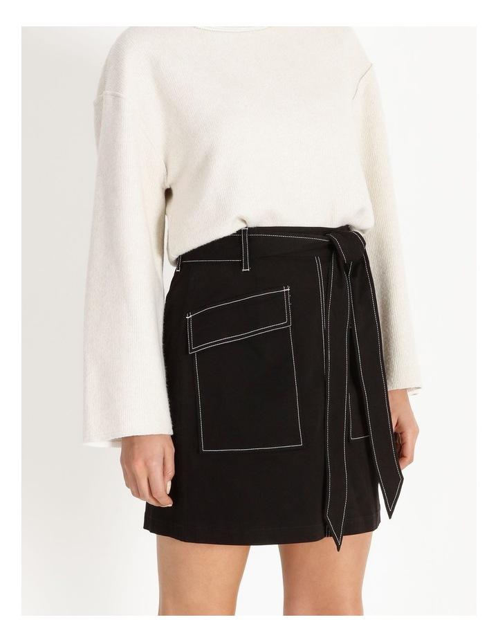 Contrast Stitch Mini Skirt image 5