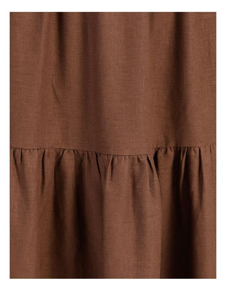 Linen Blend Shirred Waist Skirt image 7