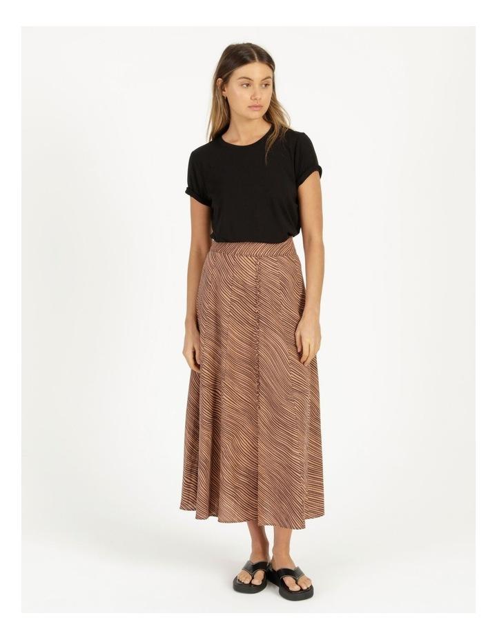 Linen Blend Button Front Skirt image 1