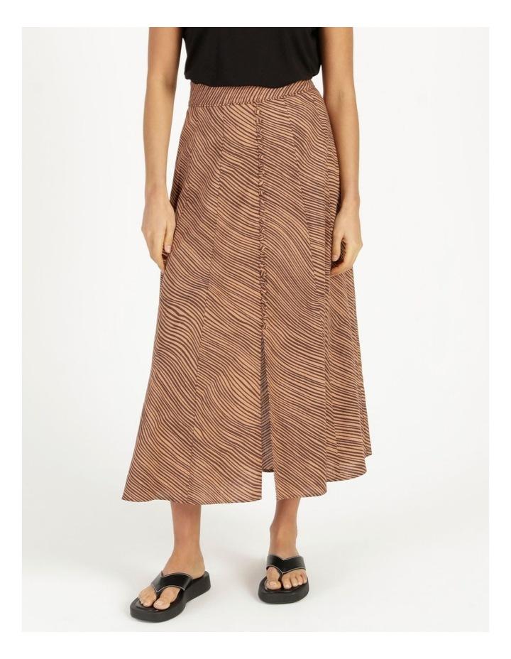 Linen Blend Button Front Skirt image 2