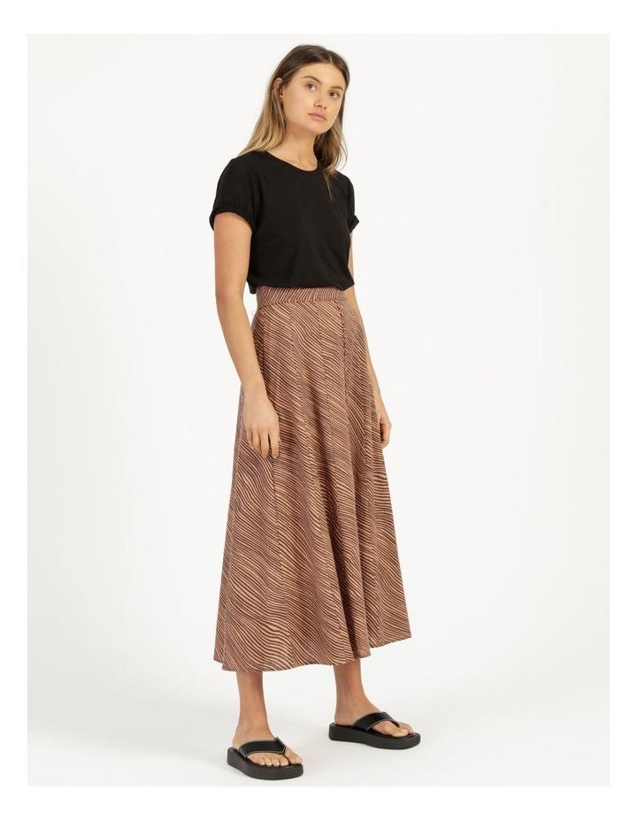 Linen Blend Button Front Skirt image 3