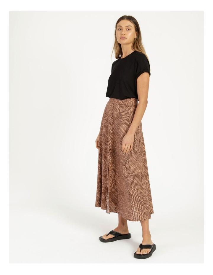 Linen Blend Button Front Skirt image 4