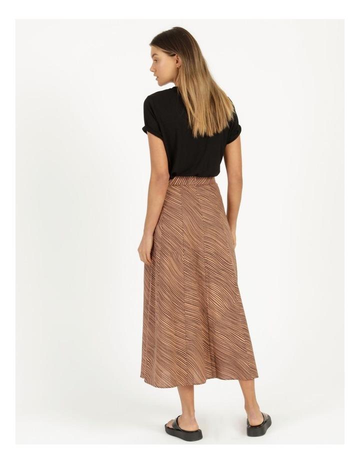 Linen Blend Button Front Skirt image 5