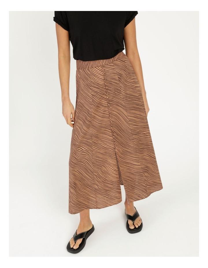 Linen Blend Button Front Skirt image 6