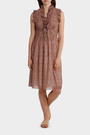 Piper - Dress with Corset Detail Print