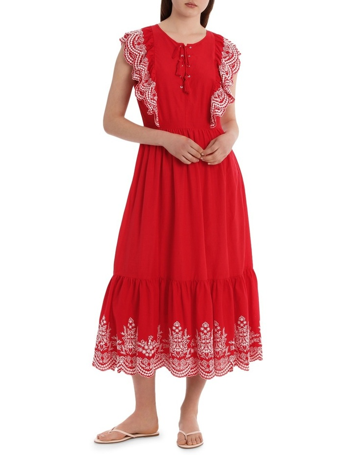 Dress Ruffles and Embroidery image 1