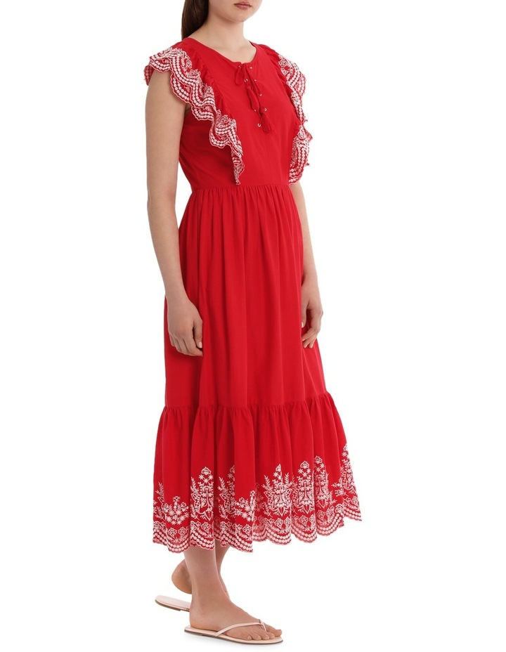 Dress Ruffles and Embroidery image 2