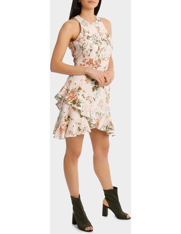 Dress Wrap Ruffle Front Print image 1