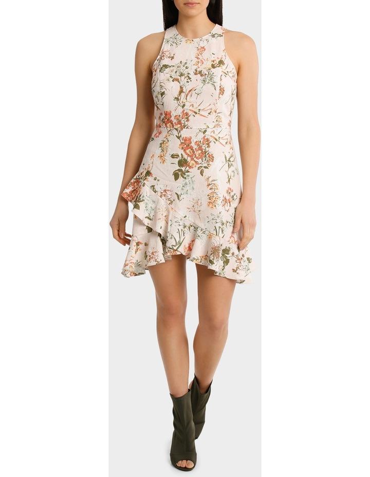 Dress Wrap Ruffle Front Print image 2