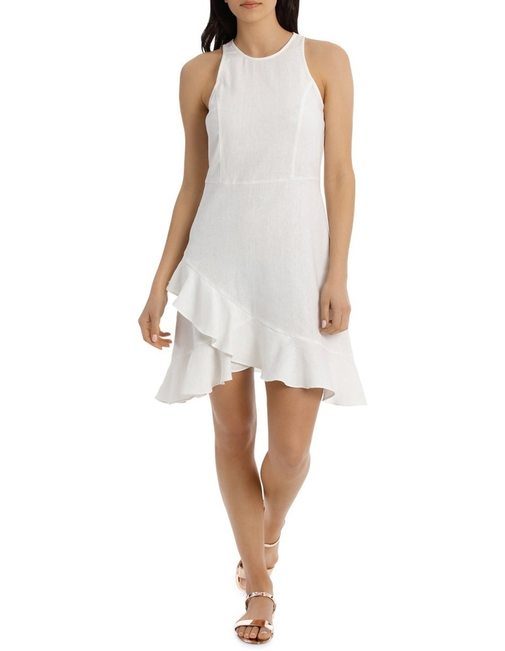 Dress Wrap Ruffle Front Solid image 1