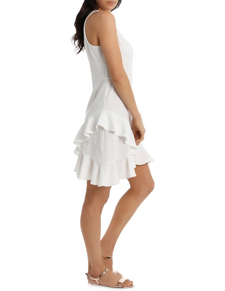 Dress Wrap Ruffle Front Solid image 2