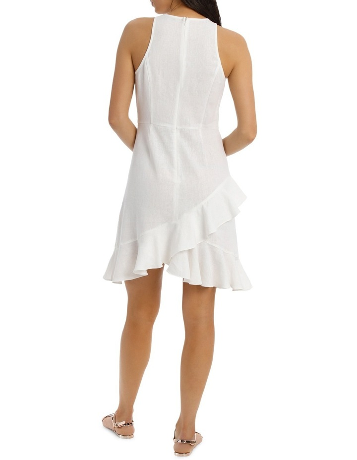 Dress Wrap Ruffle Front Solid image 3