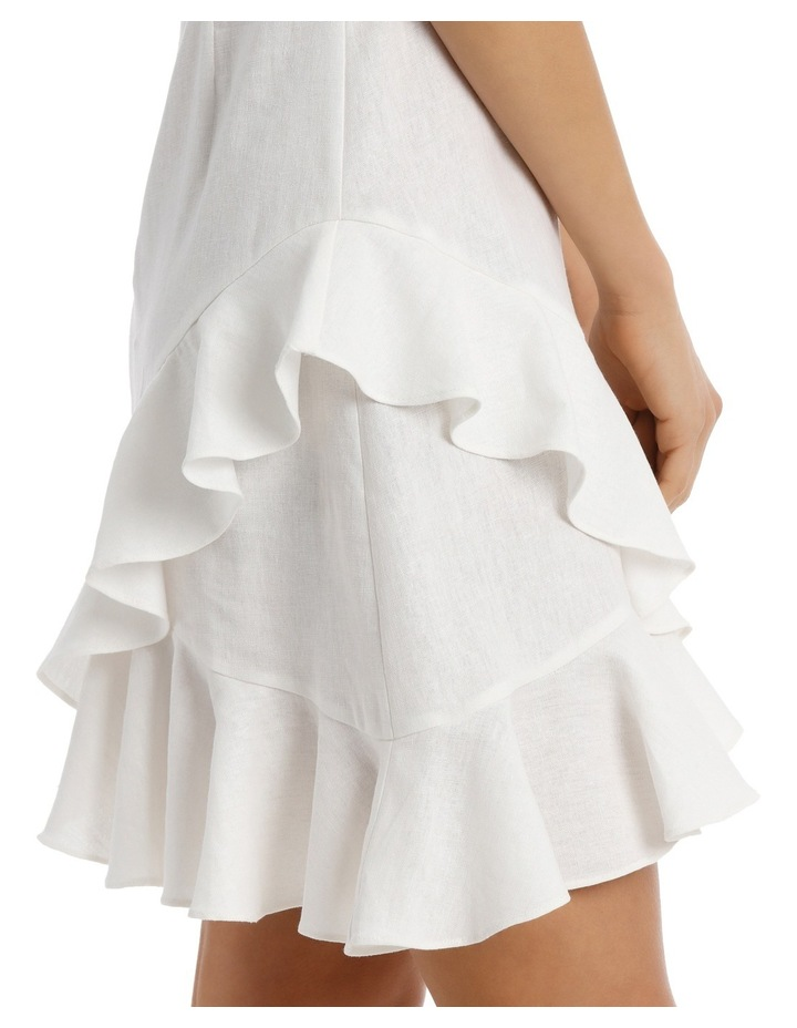 Dress Wrap Ruffle Front Solid image 4