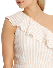 Piper - Dress One Shoulder Ruffle