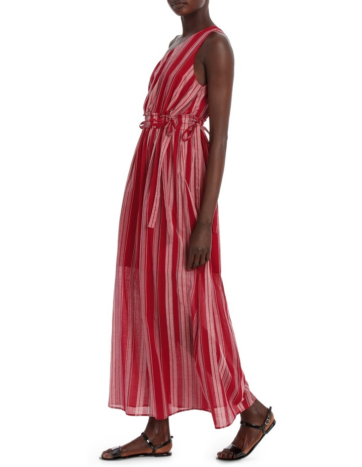 Dress Stripe one shoulder maxi image 2