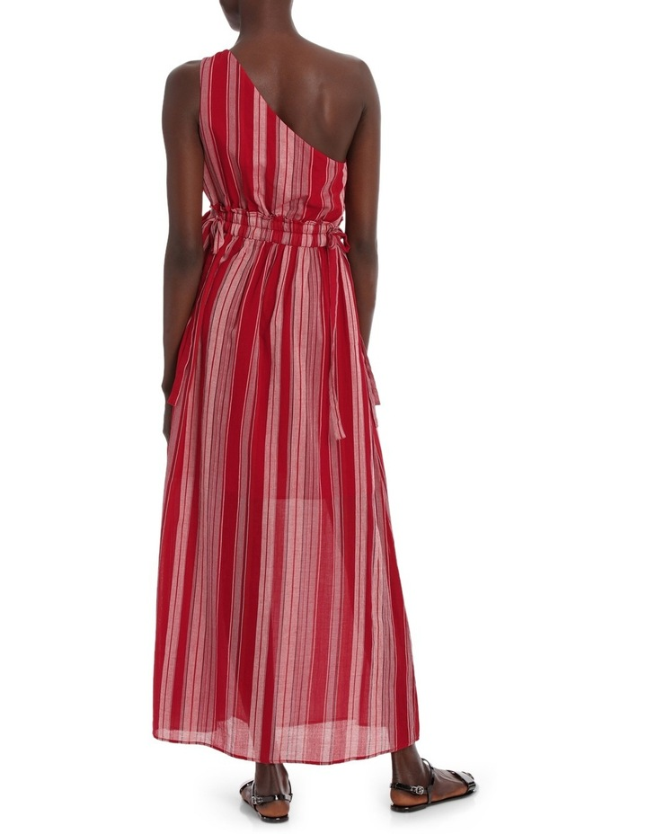 Dress Stripe one shoulder maxi image 3