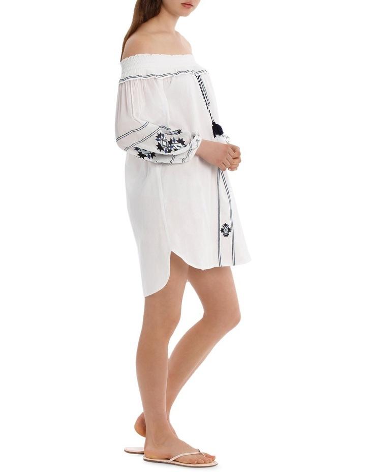 Dress heavy emb off shoulder image 2