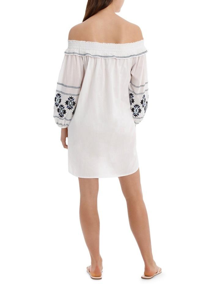 Dress heavy emb off shoulder image 3