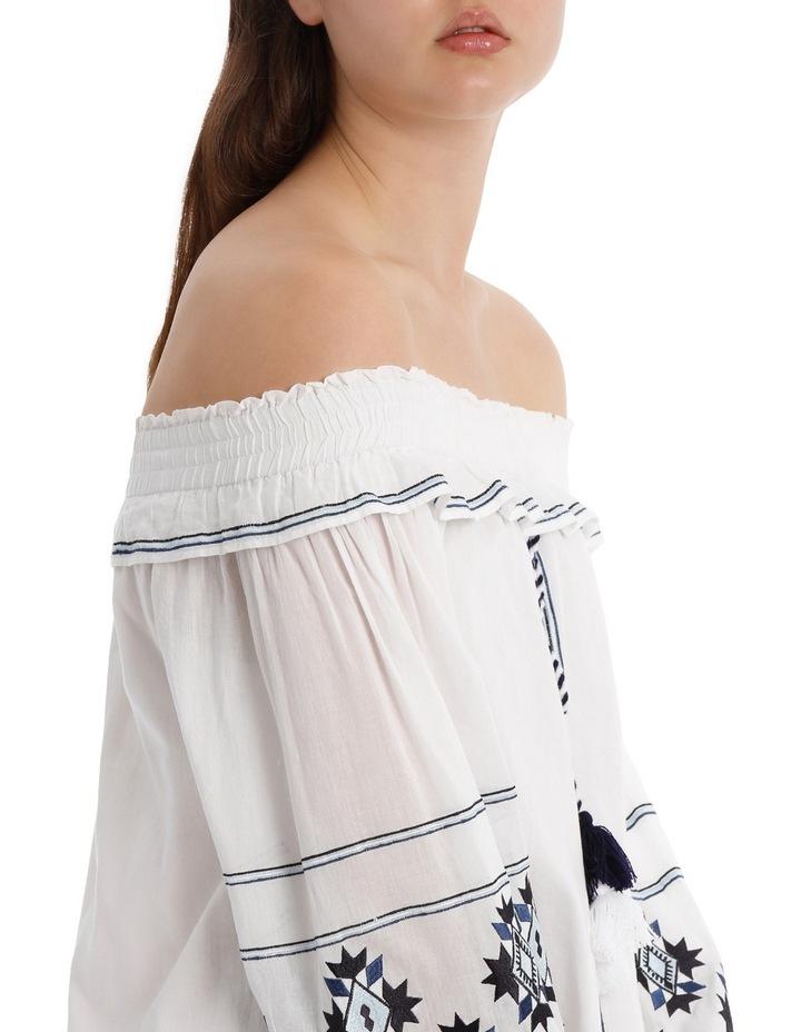 Dress heavy emb off shoulder image 4