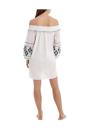 Piper - Dress heavy emb off shoulder