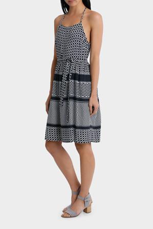Piper - Dress Strappy geo print