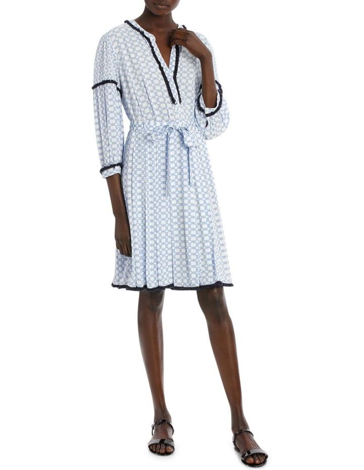 Dress 3/4 Sleeve spliced print image 1