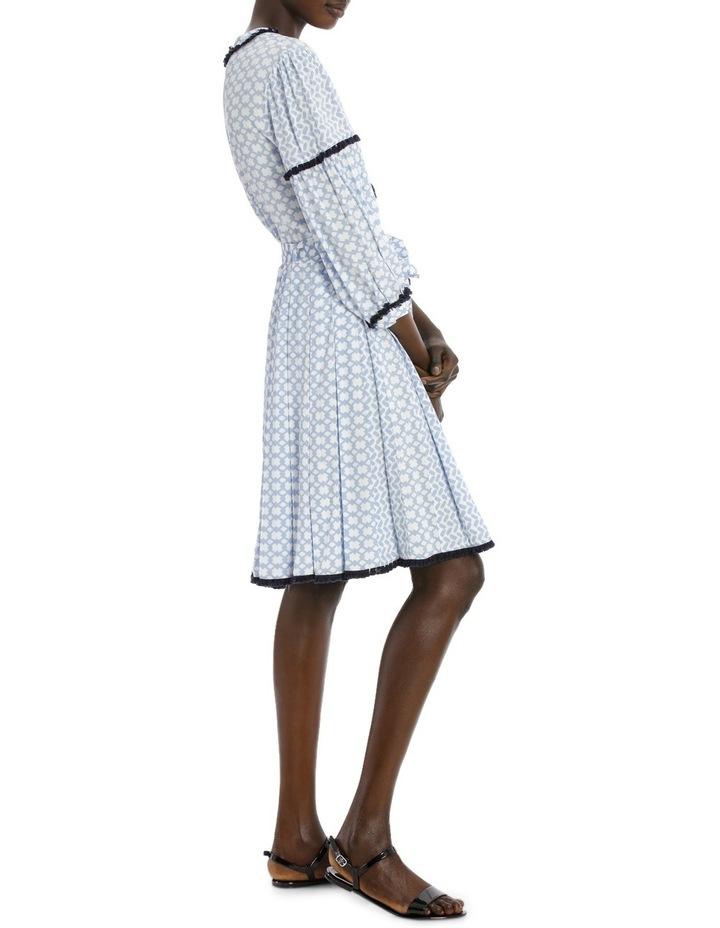 Dress 3/4 Sleeve spliced print image 2