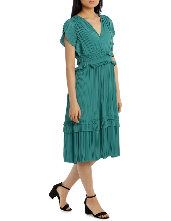 Dress Vee Neck With Ruffles image 2