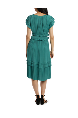 Piper - Dress Vee Neck With Ruffles