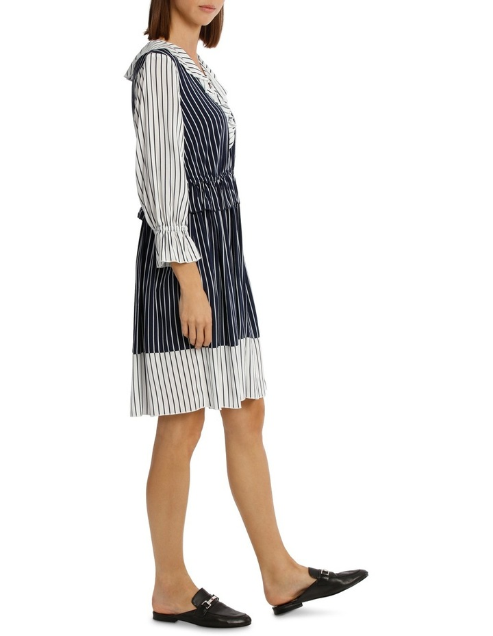 Dress Spliced Stripe Midi Lenth image 2