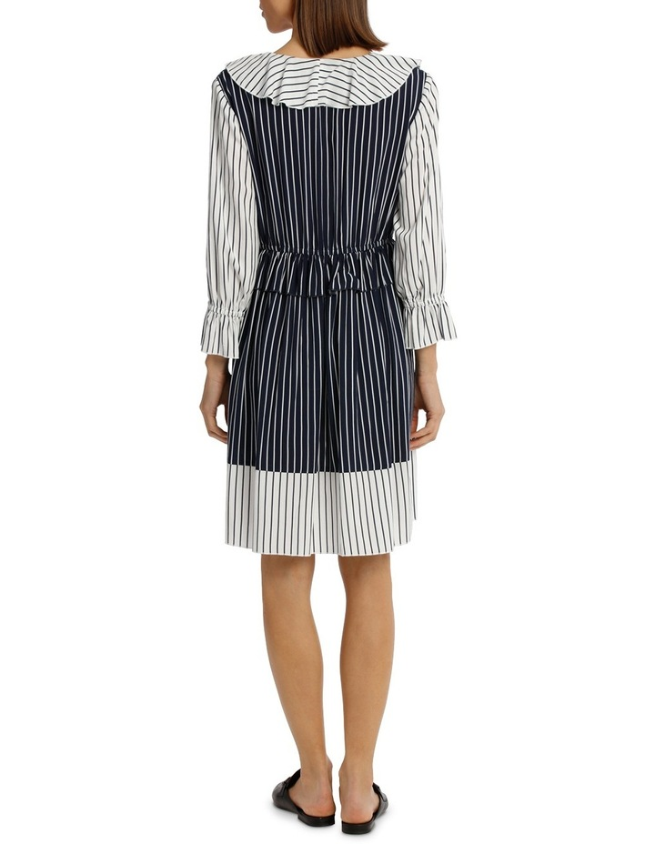Dress Spliced Stripe Midi Lenth image 3