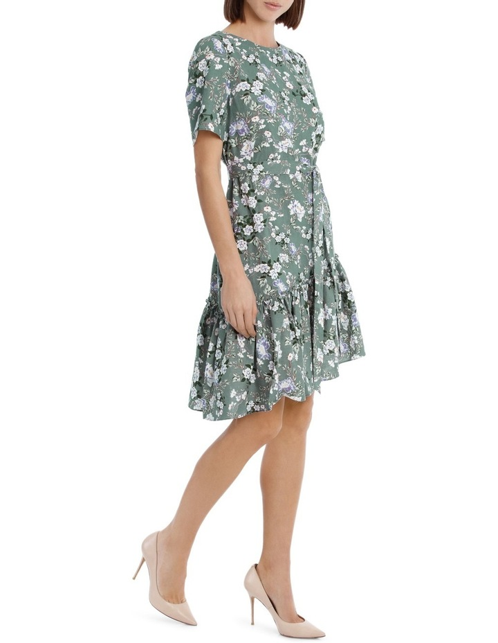 Dress Linen Side Ruffle Print image 2