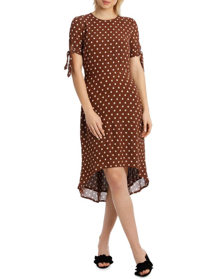 Dress Spot Midi with Tie Sleeve XM4591 image 1