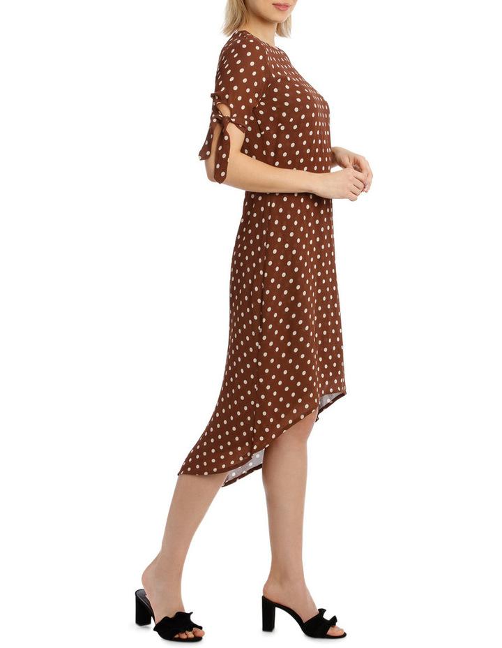Dress Spot Midi with Tie Sleeve XM4591 image 2