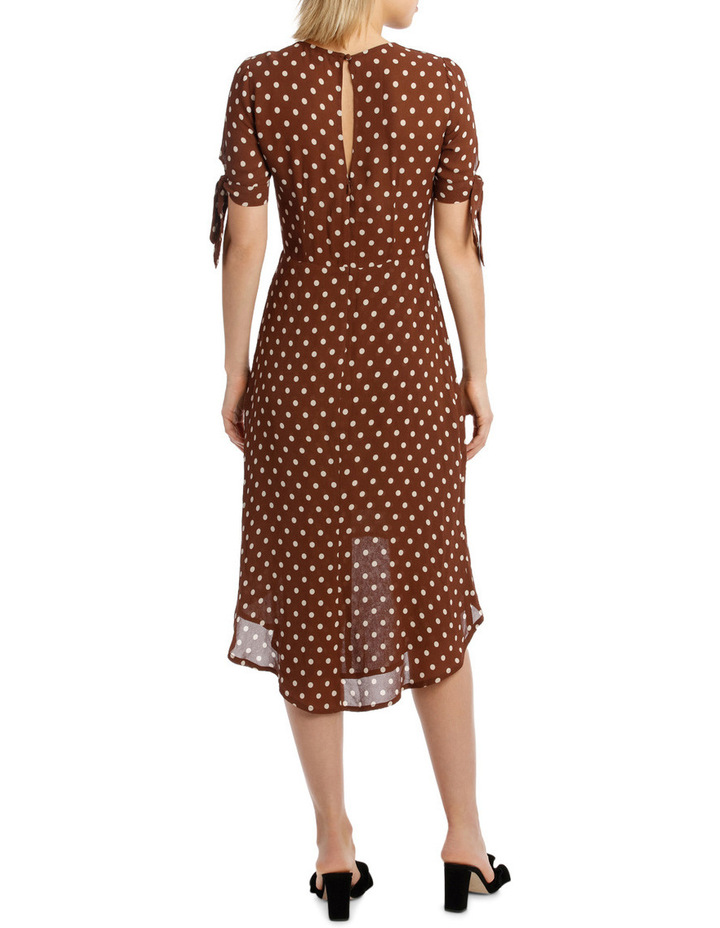 Dress Spot Midi with Tie Sleeve XM4591 image 3