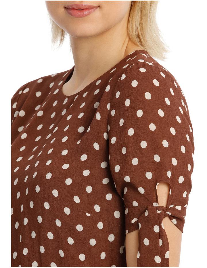 Dress Spot Midi with Tie Sleeve XM4591 image 4