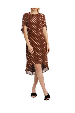 Piper - Dress Spot Midi with Tie Sleeve XM4591