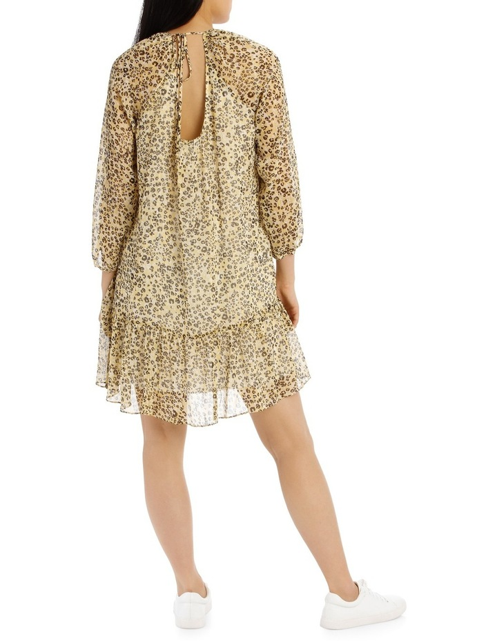 Dress Printed Animal Metallic image 3