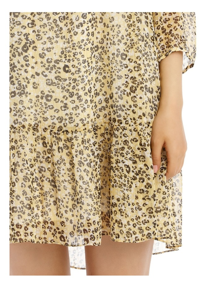 Dress Printed Animal Metallic image 4